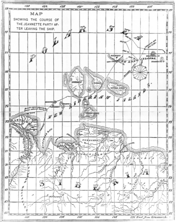 Chart of the Jeannette expedition