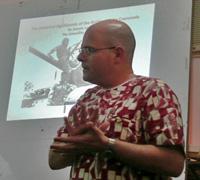 Dr Laumann lecturing