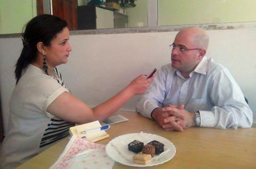 Dr Laumann being interviewed