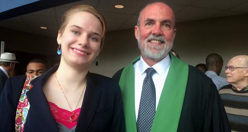 Lillian Page and Dean Tom Nenon