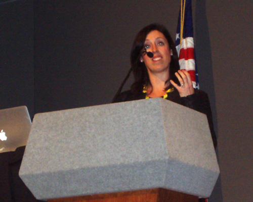 Dr Danielle McGuire lecturing