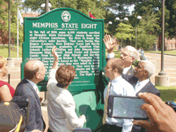Unveiling the marker