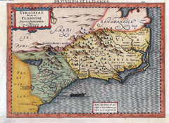 Early map of North Carolina