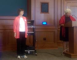 Dr Margaret Caffrey and Dr Beverly Bond