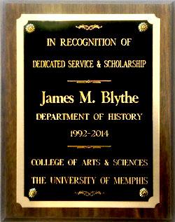 Dr Blythe's plaque