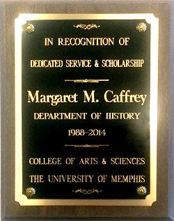 Dr Caffrey's plaque