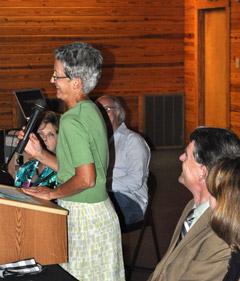 Dr Susan O'Donovan reading a citation