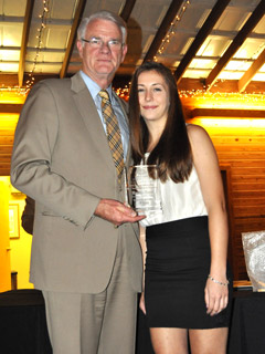 Mayor Mark Luttrell and Marisa Rozzi