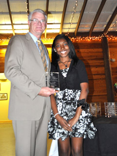 Mayor Mark Luttrell and Kira Tucker