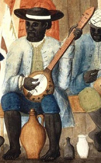 Banjo player on a S.C. plantation
