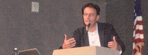 Dr Laurent Dubois lecturing