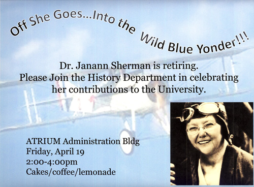 Flier about Dr Sherman's retirement