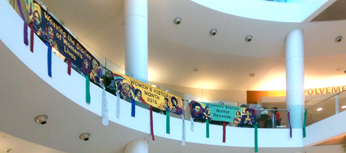 Artwork at Women's History Month opening
