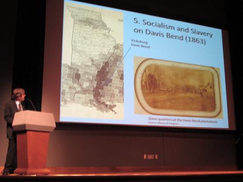 Dr Andrew Zimmerman and Davis Bend slide