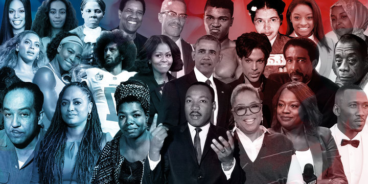 collage of prominant black figures in the usa