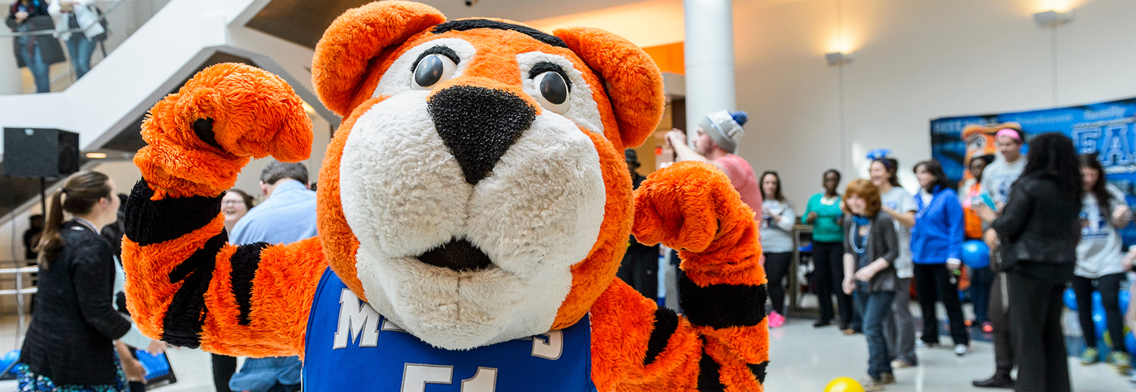 Pouncer at Healthy U Kickoff