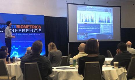 Daniel Greenwood at Sports Biometrics Conference