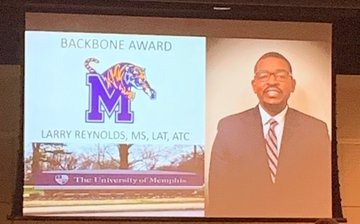 Larry Reynolds wins TNATA Backbone of the Year Award