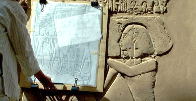 Epigraphy Methods: Photography is the simplest and most direct means of recording well preserved inscriptions and it revolutionized the recording of Egypt's monumental legacy when it first appeared in the early Nineteenth Century. Unfortunately, its not the most scientifically reliable method of recording.
