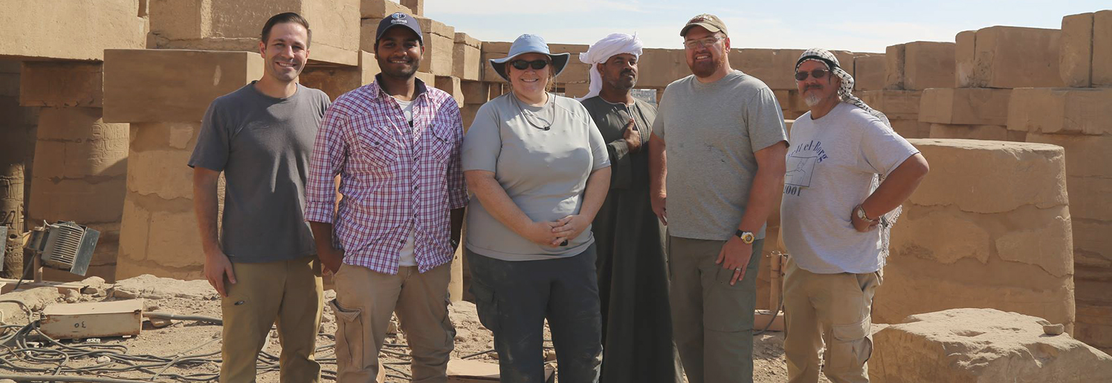Six members of the Tandy Institute's epigraphic team