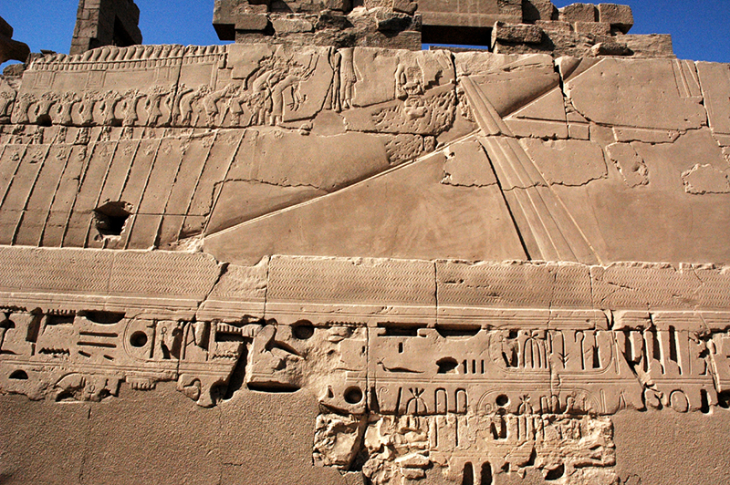 Amenhotep III's royal barge towing the Userhet barge of Amun-Re