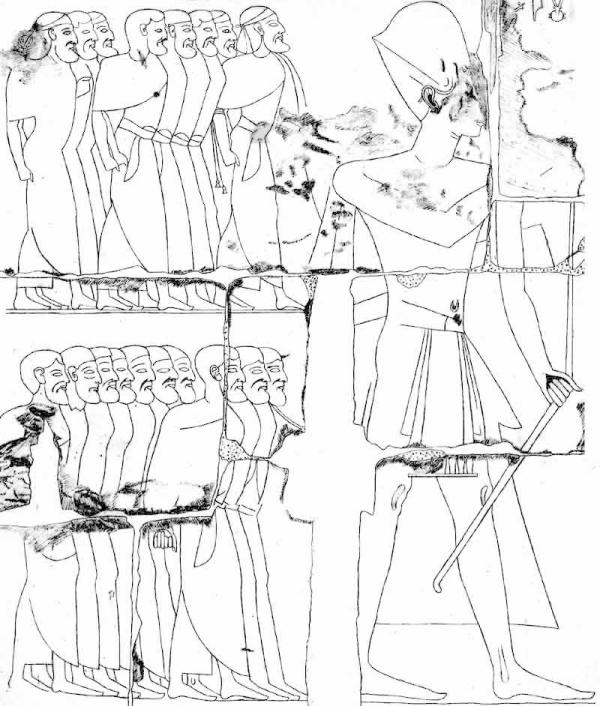 Ramesses II and Syrian prisoners