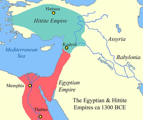 egyptianhittitemap