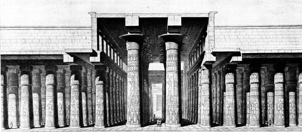 19th Century reconstruction of the Hypostyle Hall