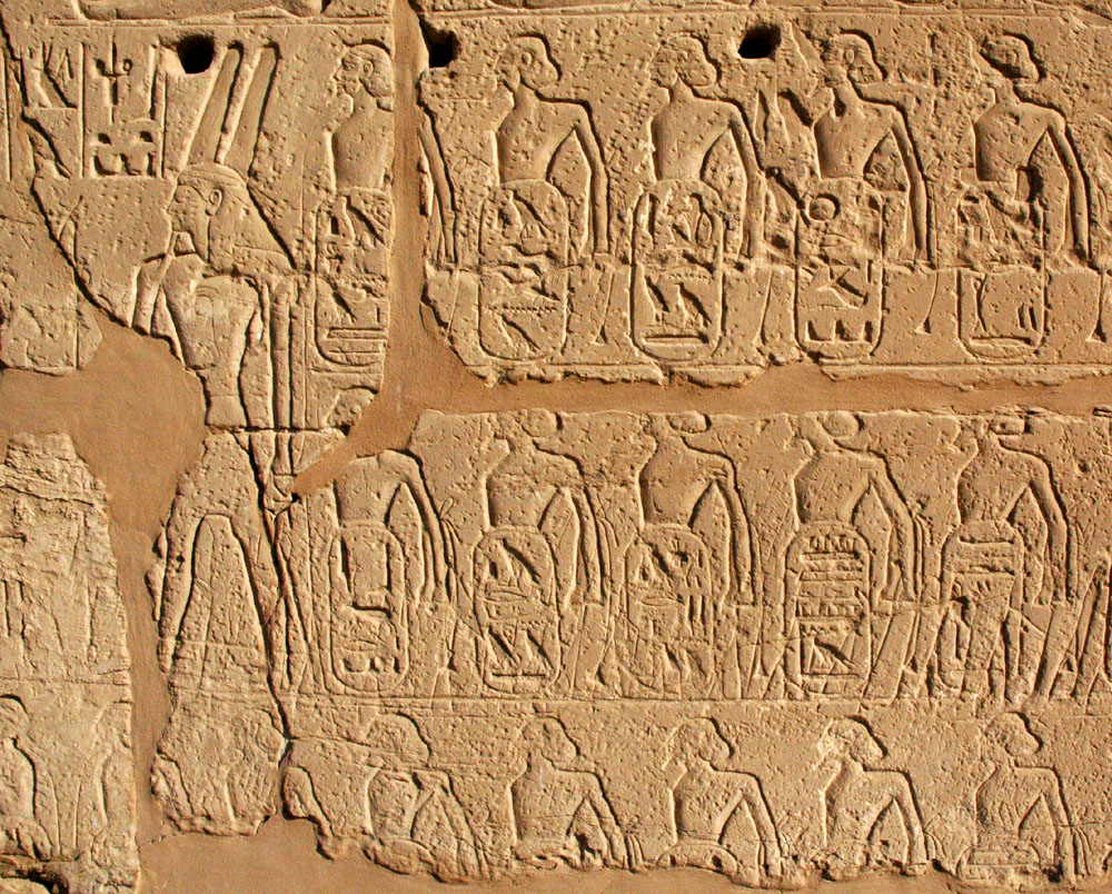 foreign place names with palimpsest of Battle of Kadesh