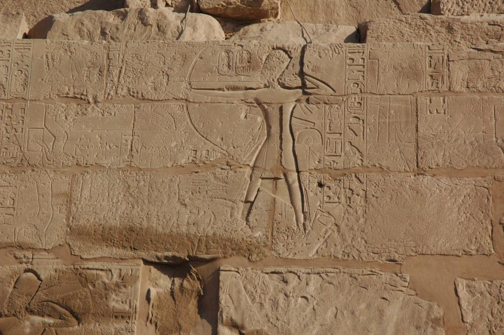 Ramesses II attacking Syrian town
