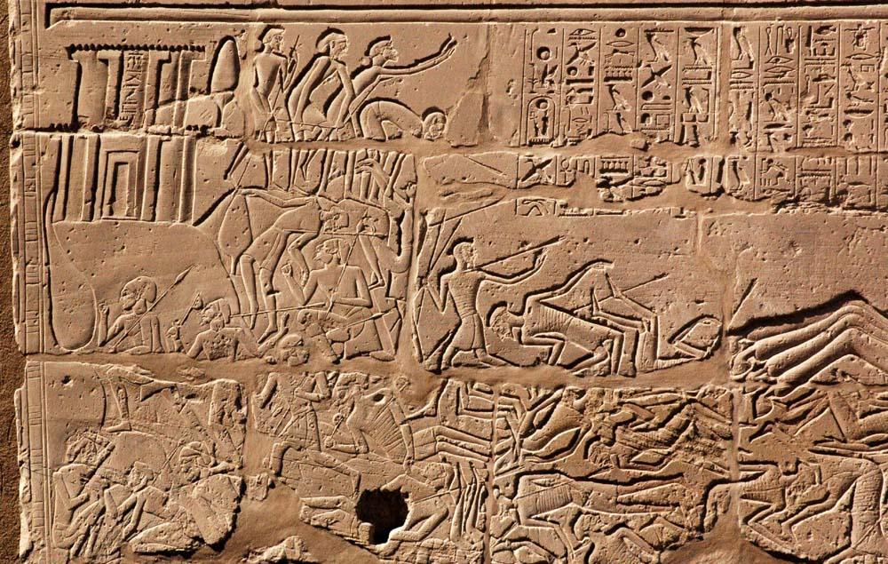 Sety I attacks Shasu beduin at the town of Canaan
