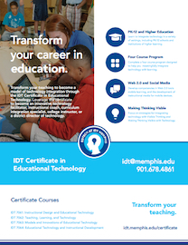 Certificate In Idt Instructional Design And Technology The University Of Memphis