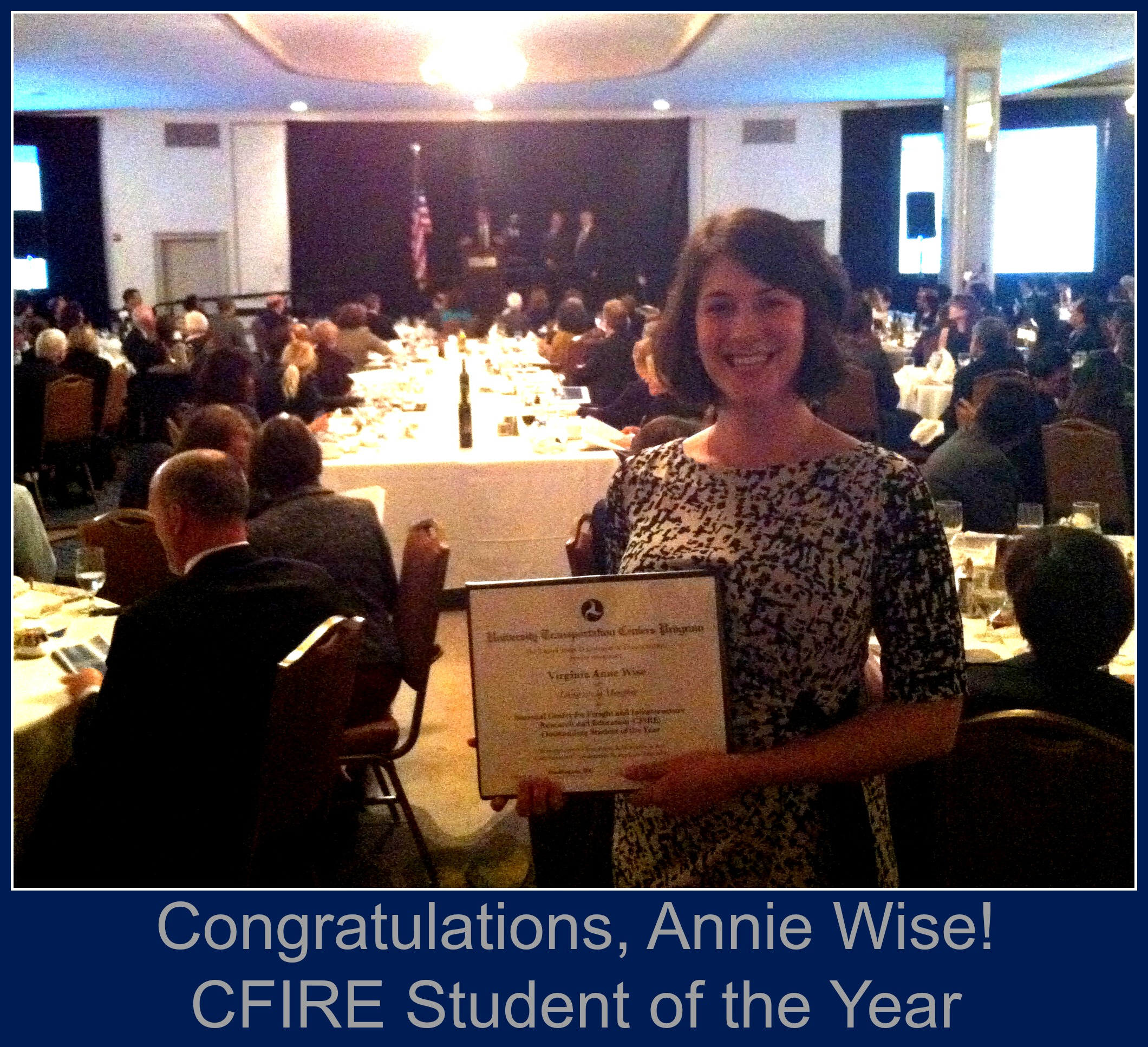 Annie is the CFIRE student of the year!