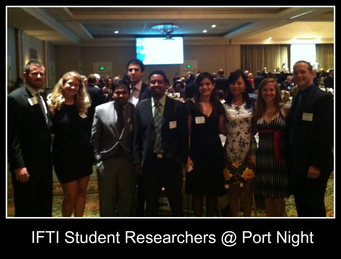 ifti student researchers at port night