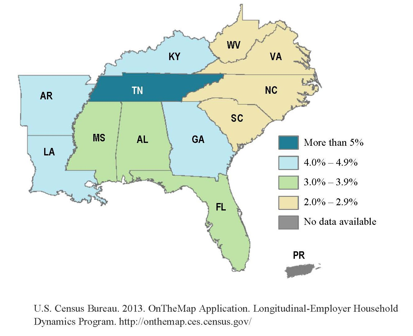 map of transportation jobs