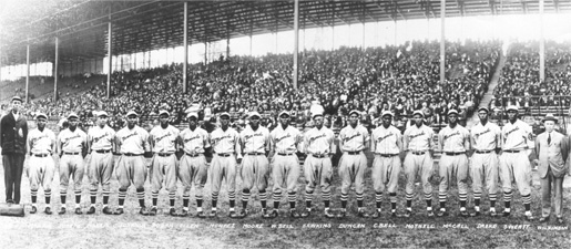 Kansas City Monarchs, 1924 courtesy of the National Baseball Hall of Fame and Museum