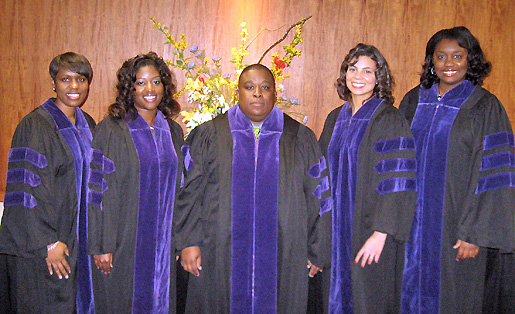 Pictured from left to right are LaToya M. Carpenter, Melisa T. Hayes-Moore, Reginald Shelton, Lucy Michele Sloan, and Kelli Batson.