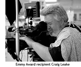 Emmy Award recipient Craig Leake