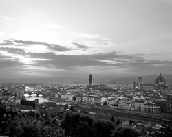 Photograph of the Florence skyline by Michael Darough.