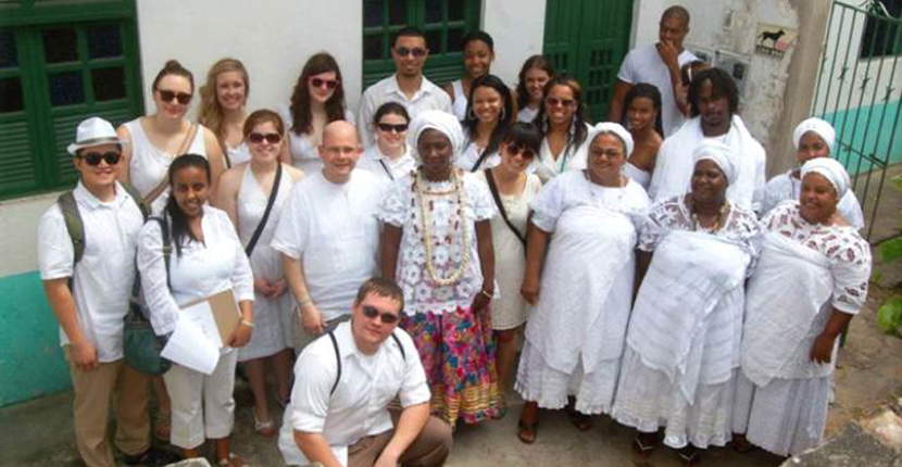 International Studies students and faculty in Brazil