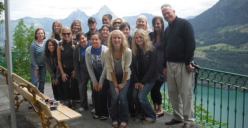 International Studies students in Switzerland