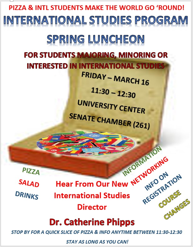 International Studies Spring 2018 Lunch