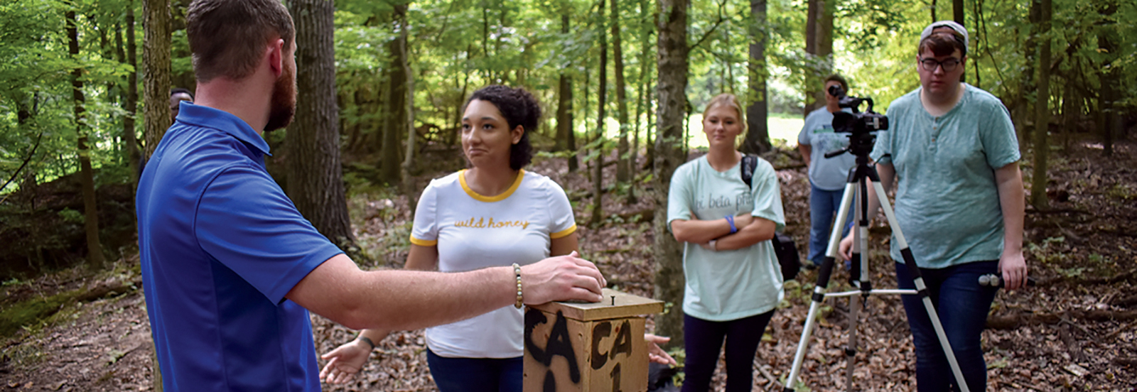 Creative Mass Media students worked to create a multimedia project for Meeman Biological Station.