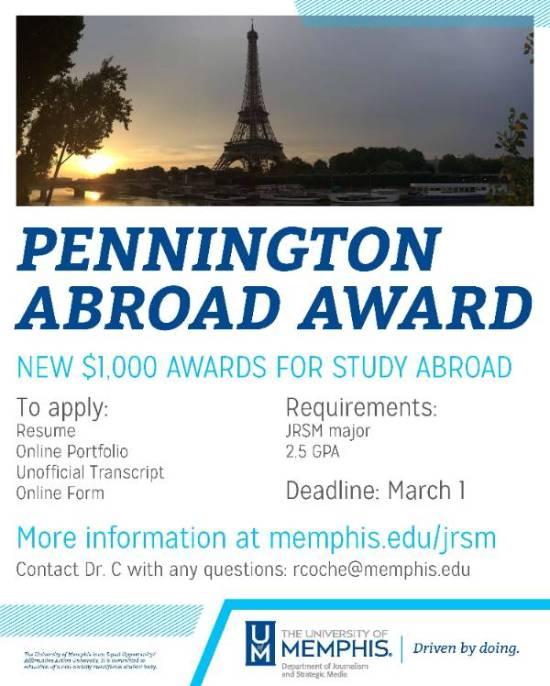 Pennington Study Abroad Scholarships