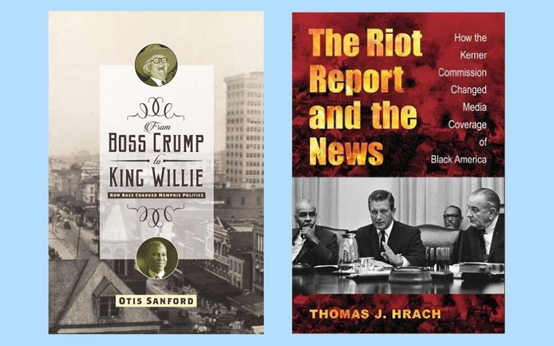 Professor Otis Sanford and Dr. Tom Hrach Books