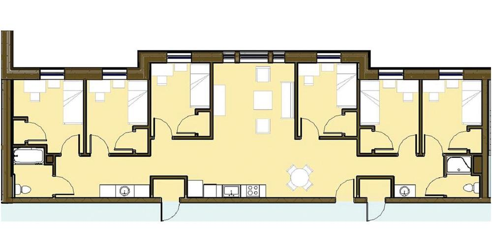 Centennial Place Apartment Floor Plan