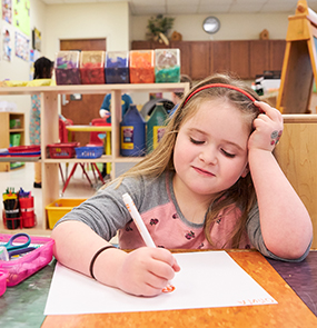 Pre-K Student drawing