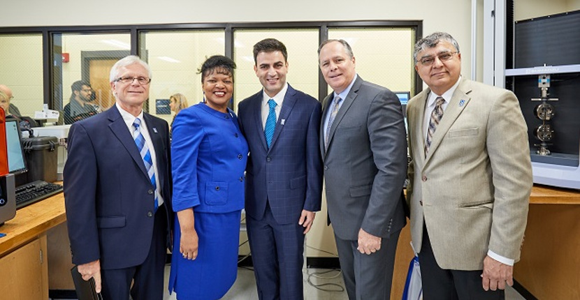 University Leadership Celebrate Lab Opening