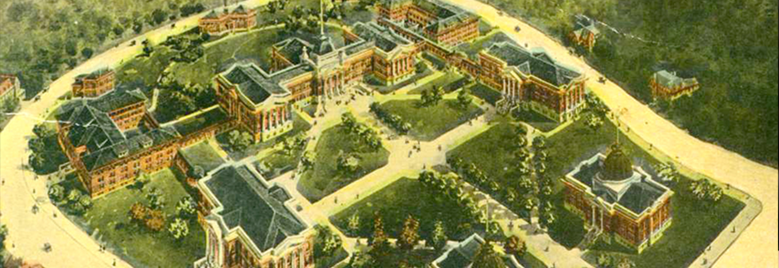 First Campus Master Plan aerial view