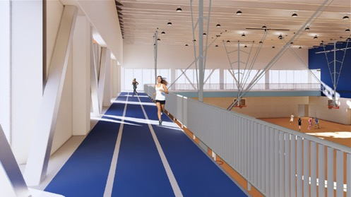 indoor track rendering